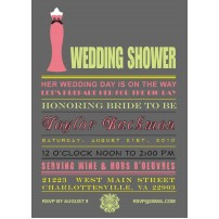 Wedding Gown Bridal Shower Printable Invitation